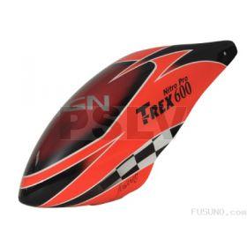 FUC-6005N - FUSUNO NEON ORANGE RACING Painted Fiberglass Canopy Trex 600 Nitro