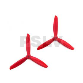 Dal 5x4.5 + 5x4.5R Three Blade Propeller ABS CW&CCW Red
