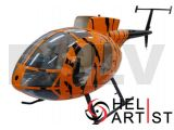 HA700MD500E-T03 -HeliArtist Hughes MD500E Fiber Glass Fuselage Tiger 700E T-rex