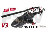 HA450AF003RV3 Heliartist V3 Black Airwolf with retracts and Lights