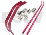 A095 HT SS7075 Aluminium Universal Landing Skid set 30&50 (red)