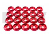 LX0239 Lynx Heli Innovations Frame C Washer M3 Red 20pcs