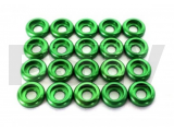 LX0250 Lynx Heli Innovations Frame C Washer M3 Green 20pcs