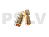 C-0023 -    Gold Φ8.0 mm Plated Bullet Connectors