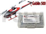 GOB004   Goblin 500 Heli Stainless Steel Screw Kit