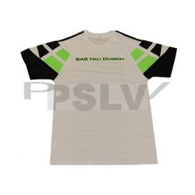 HM011-XL   SAB HELI DIVISION White T-Shirt Size XL