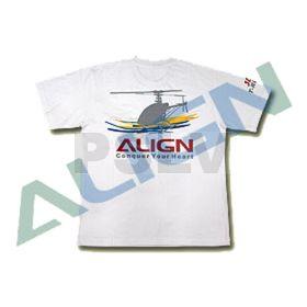 BG61557 Align Flying T-shirt White Size XL